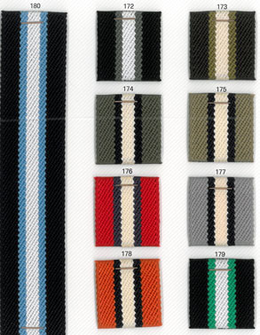devanet webbing belts stripe colour options